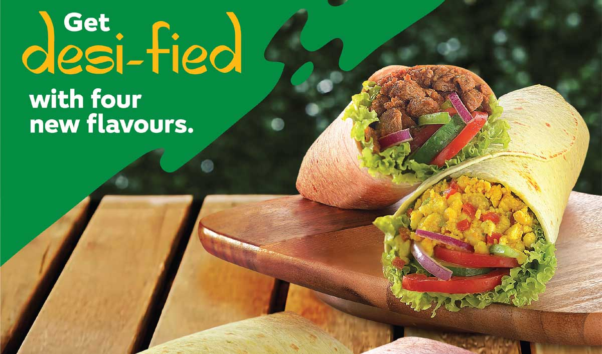 Subway India Adds 4 New Flavours To Loaded Signature Wraps