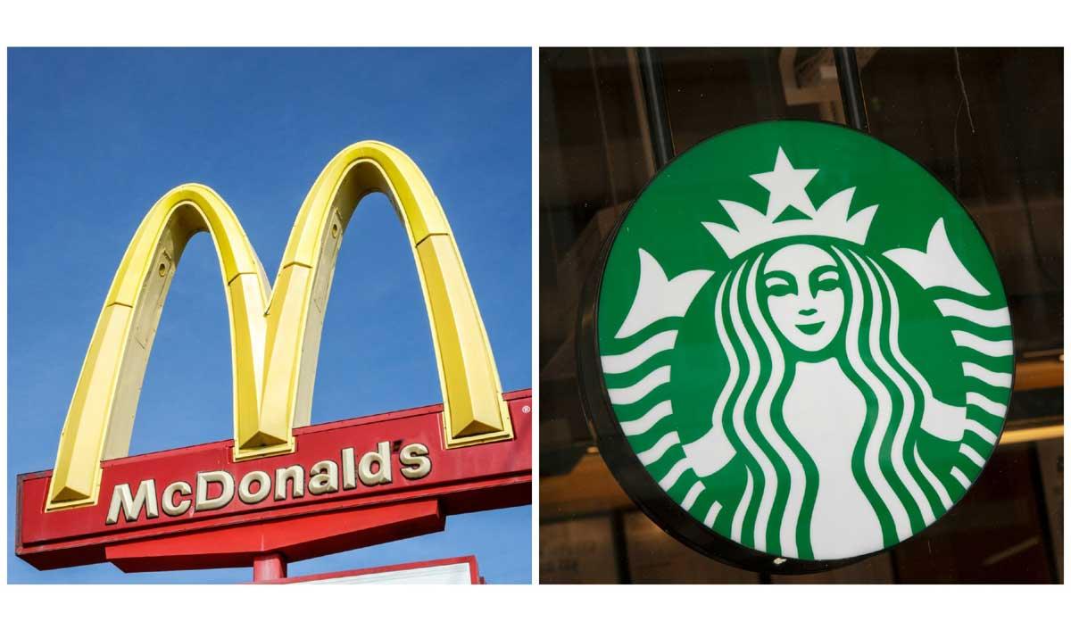 McDonald's, Starbucks