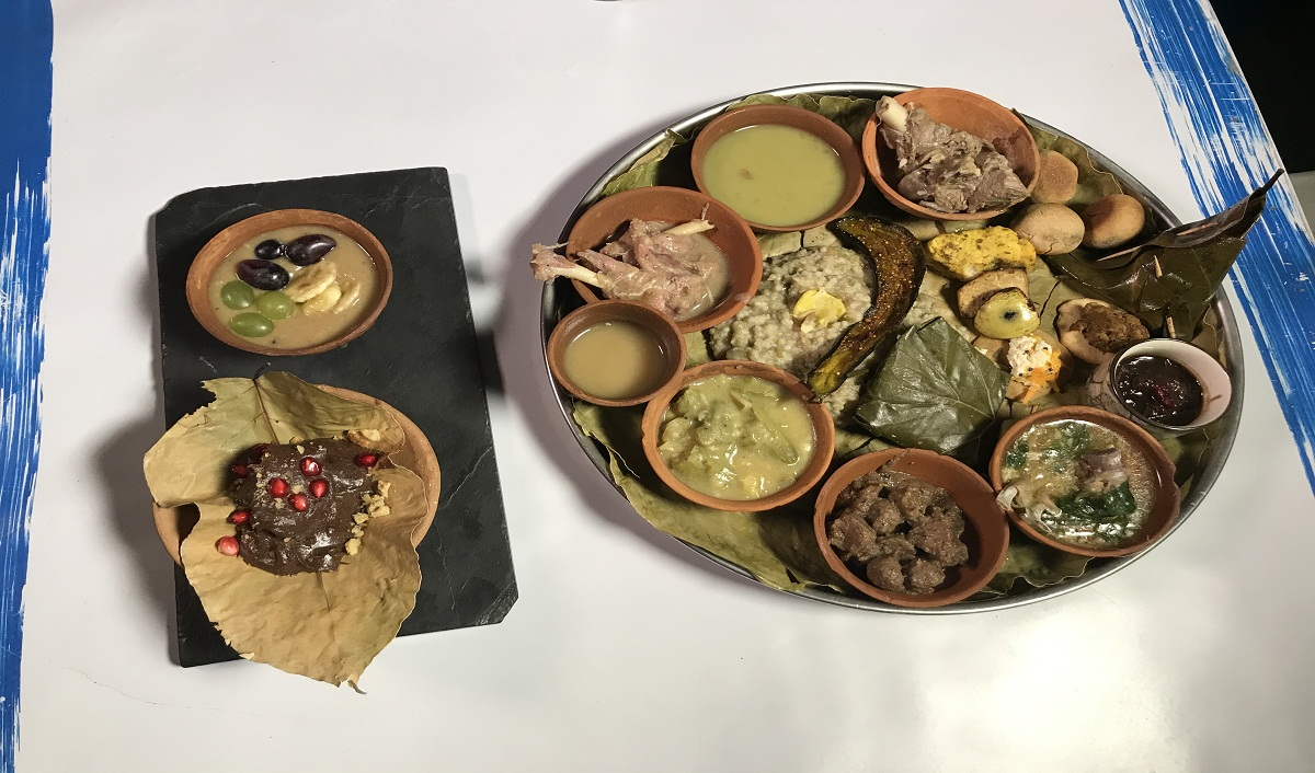 One of the main draws of this exhibition was tasting the food of the Indus-Saraswati Civilization, which was recreated by National Award-winning Chef Saby (Sabyasachi Gorai)