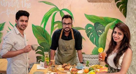 Mayank Gahlot,Nikkhil Joshhi and Surruchi Joshhi. Founders of Nut and Bowls Cafe.