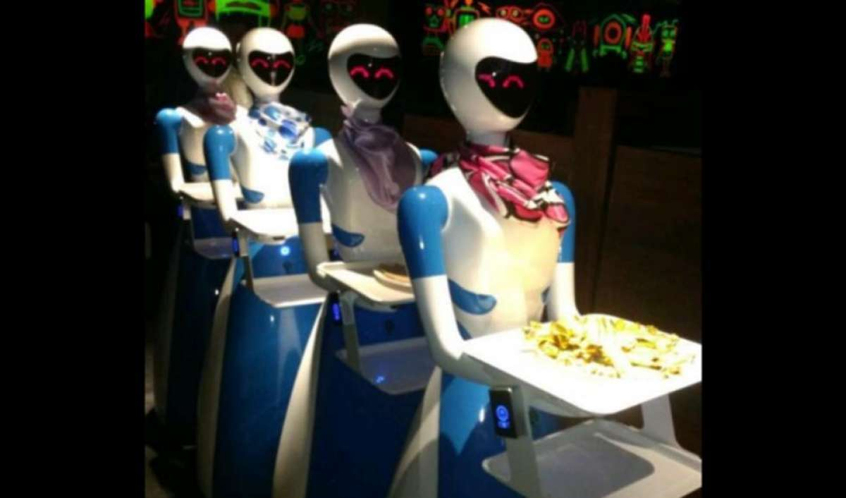 The restaurant sector is undergoing an interesting transformation with high-end facilities creating new trends to engage customer attention. The latest of these innovations are the inclusion of robots that serve the food and even sing a birthday song or two