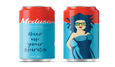 Medusa is an India based Beer Company with a strategic marketing division and a quirky and contemporary packaging.