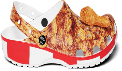 This fast-food giant collaborated with the footwear brand crocks to launch its new limited edition products called the 'Kentucky Fried Chicken x Crocs Clogs'